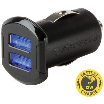 Scosche reVolt dual dvojitá autonabíječka USB 2x 2,4A černá